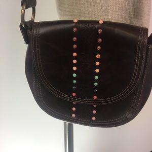Zara Crossbody Handbag  Boho Metal Rainbow Studs